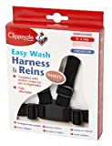 Clippasafe Easy Wash Harness and Reins (Black) [importato da UK] immagine