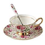 Cup / Untertasse / Löffel Kaffeetasse Set Porzellan Teacups und Untertassen Kaffee Tasse 6.8OZ