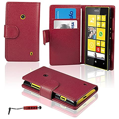 Housse Protection Nokia Rouge - Etui Nokia Lumia 520 - SAVFY® -