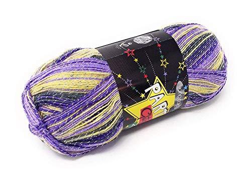 4 Party Glitz Sugar Plum Lila Gelb Grau Glitzer 4ply 100g Ball Of Wool -