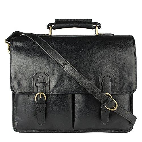 Hidesign-Hugo-Briefcase-Bag-Messenger-Bag-Laptop-Bag-Suitable-For-Mac-Book-Pro-15-Shoulder-Bag-For-Men-Vintage-Mens-For-Travel-Work-With-Adjustable-Leather-Shoulder-Strap