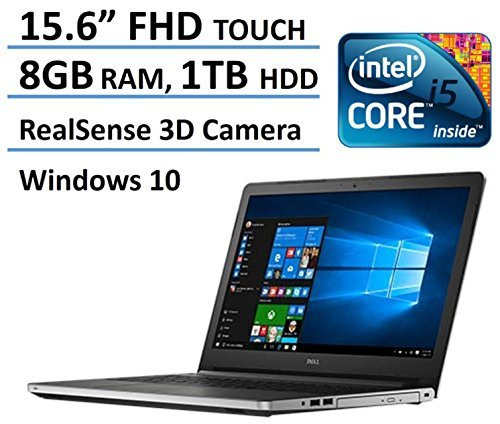 2016 Newest Dell Inspiron 15 5000 FHD Touchscreen Flagship Laptop, RealSense 3D Camera, Intel Core i5-6200U, Full HD 1920 x 1080 Touch Display, 8GB Ram, 1TB HDD, DVD, Backlit Keyboard, Windows 10 51yx0zd4JuL