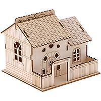 MagiDeal Kreative Hölzerne Villa Spardose Sparbüchse Sparschwein mit schönem Licht - 15 x 14 x 13 cm - D preisvergleich bei kinderzimmerdekopreise.eu