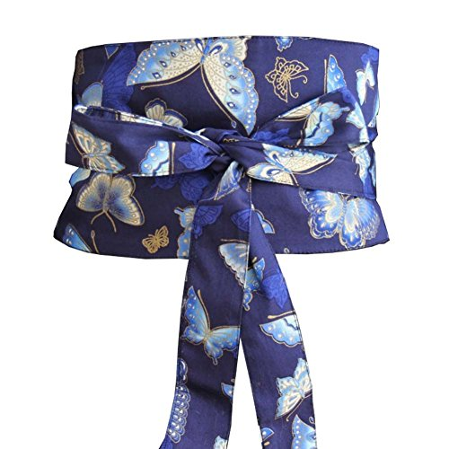 Fancy Pumpkin Japonés Yukata Kimono Robe Obi Cinturón Harajuku Cinturón-Mariposa