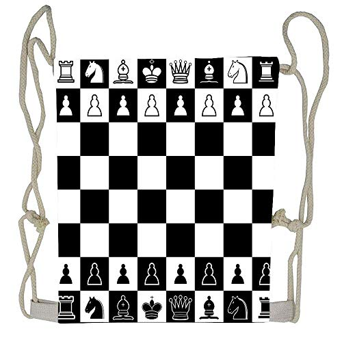 Chess Board Drawstring Bag Men Womens Gym Backpack Vintage Small Bags for Youth