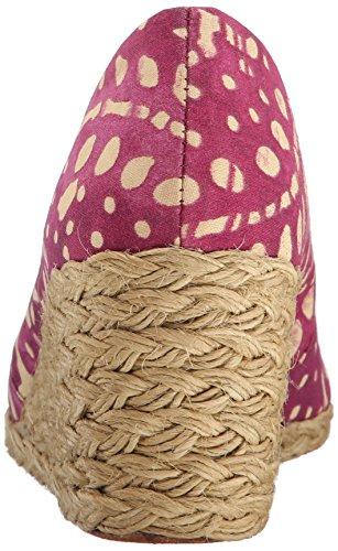 Lauren Ralph Lauren  Cecilia, Semelle compensée femme Persimmon/Wheat Batik Floral