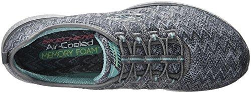 Microburst Sneaker Grigio Su Skechers attivo Slittamento Womens Sport SwU0nO1Ox