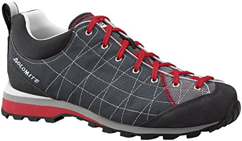 Dolomite Zapato Diagonal Lite Gris Detalle Rojo