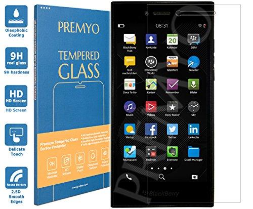 PREMYO Panzerglas Schutzglas Bildschirmschutzfolie Folie kompatibel für BlackBerry Leap Blasenfrei HD-Klar 9H 2,5D Gegen Kratzer Fingerabdrücke