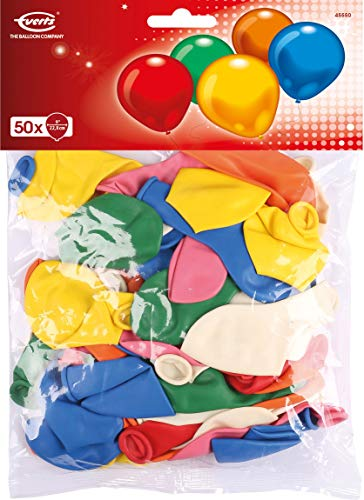 amscan 45550 Latexballons, farbig Sortiert