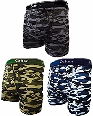Mens Camouflage Boxer Shorts 3 Pair Pack