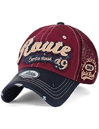 ililily USA Route 49 Gold Rush Freizeitkleidung Baumwolle Netz Trucker Cap Hut Baseball Cap