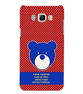 PrintVisa Designer Back Case Cover for Samsung Galaxy J5 (6) 2016 :: Samsung Galaxy J5 2016 J510F :: Samsung Galaxy J5 2016 J510Fn J510G J510Y J510M :: Samsung Galaxy J5 Duos 2016 (Quote Love Heart Messages Crazy Express Sorry )