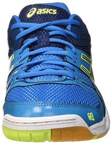 Asics Gel-Rocket 7, Scarpe da Pallavolo Uomo Multicolore (Blue Jewel/Glacier Grey/Safety Yellow)