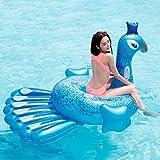 YJWOZ Estilo de Dibujos Animados Montaje Inflable de Agua Grande Adulto Anillo de natación Fila Flotante PVC 198cm × 164cm Kayak Inflable