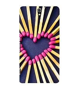 Fuson Designer Back Case Cover for Sony Xperia C5 Ultra Dual :: Sony Xperia C5 E5533 E5563 (Match Box Match Stick Love heart Lovely Nice)