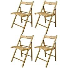 Amazon.es: sillas plegables madera - 4 estrellas y más