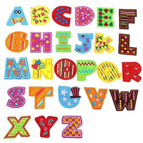 Aufnäher zum Aufbügeln Buchstaben A-Z Alphabet Patches Tierform DIY Motiv Aufbügeln oder Aufnähen Aufnäher Applikation für Jeans, Jacken, Rucksäcke, Style 8, 4 cm