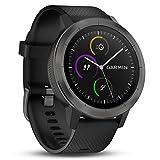 Garmin Vivoactive 3 - Montre Connectée de Sport avec GPS et Cardio Poignet - Gris avec Bracelet Noir