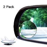 Blind spot Miroir, Jeswell réglable Grand Angle vue arrière miroir convexe, 5,1cm Round HD en verre, design universel pour toutes les voitures, SUV, camion et UTV (lot de 2)