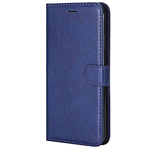 RIdhaniyaa® Vivo S1 flip Cover Premium Wallet Style Diary Flip Cover with Magnetic Lock Flip Cover for Vivo S1 (DEEP Blue)