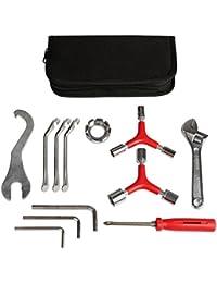 Kit de herramientas de reparación de bicicletas, herramientas básicas de reparación para el hogar, incluye la mayoría de herramientas de reparación de bicicleta, reparación diaria y regalo