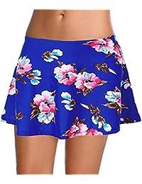 Leslady Mujer Shorts de baño Falda Bikini para Mujer Bragas Pantalones  Cortos 1dc63dec9df4