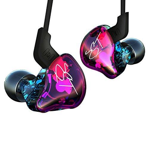 (KZ ZST In-Ear bunte Ohrhörer Rauschunterdrückung, ausgewogene Rahmen + Dynamic Hybrid Dual Drive Kopfhörer HIFI Running Sport Ohrhörer Monito Kopfhörer Ohrstöpsel Kopfhörer)