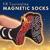Liamostee Chaussettes magnétiques de Tourmaline FIR Chaussettes de Massage à thérapie magnétique Auto-chauffantes