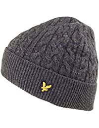 Lyle & Scott Hats Lambswool Cable Beanie - Charcoal