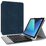 Infiland Samsung Galaxy Tab S3 9,7 Clavier Housse, Slim étui avec sans Fil Bluetooth Clavier et Porte-Stylo Protecteur pour Samsung Galaxy Tab S3 9,7 Pouces(SM-T820/T825),Bleu Marine