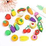 geshiglobal - Gomme da cancellare a forma di frutta e verdura non tossiche per la scuola, regalo per bambini, stile casuale Random Color