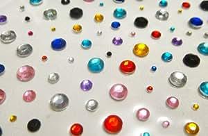 Crystals & Gems UK Round 120 mm X 2mm 4mm 6mm Gemmes Auto-Adhésives Diamant Vajazzle Pour Création Cartes Bricolage