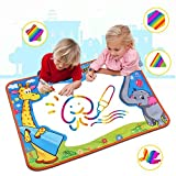 Large Water Doodle Mat , Water Drawing Mat Pad with 2 Water Pens Kids Educational Toys Boys Girls Chrismas birthday Gift