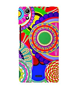 Circular Pattern 3D Hard Polycarbonate Designer Back Case Cover for Micromax CanvasSelfie2Q340