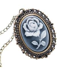 Antique 3D Flower Design Quartz Fob Pocket Watch With Neckalce Chain Sweater Necklace Chain