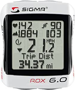 Sigma Sport ROX 6.0 Cyclocomputer, White by Sigma Sport