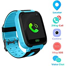 Jslai Niños Smartwatch Relojes, LBS/GPS Tracker de Alarma SOS Infantil Relojes de Pulsera