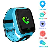 Jaybest Kid Smart Watch SOS Tracker, 1.44' Touch LCD Kinder Smartwatch mit Kamera Taschenlampen Anti-Lost Voice Chat für Jungen Mädchen Geburtstagsgeschenke(Blue)