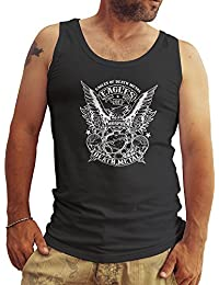 Eagles Of Death Metal BW New Logo Hombres Camiseta Sin Mangas Tank Tops