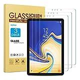 apiker [3 Stück] Schutzfolie für Samsung Galaxy Tab S4 T830/T835 (10.5 Zoll, Samsung Galaxy Tab S4Panzerglas mit 9H Härte,Bläschenfrei, 2.5D abgerundet Kante,einfach anzubringen