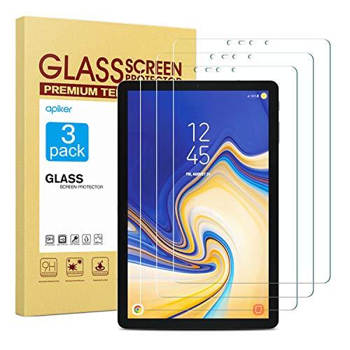 apiker [3 Stück] Schutzfolie für Samsung Galaxy Tab S4 T830/T835 (10.5 Zoll, Samsung Galaxy Tab S4Panzerglas mit 9H Härte,Bläschenfrei, 2.5D abger&et Kante,mühelosanzubringen