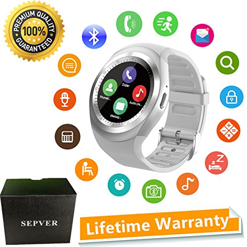 SEPVER Smart watch SN05 Round Smartwatch Pedometer Fitness Tracker with SIM TF...