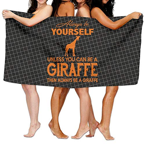 7a811da3de58 fdgjydjsh Always Be Yourself Unless You Can Be A Giraffe 100% Polyester  Velvet Absorbent Washcloths 31 X 51 Inches
