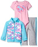 PUMA Baby Girls 3 Piece Interlock Set