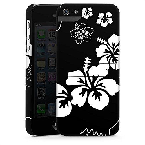 Apple iPhone X Silikon Hülle Case Schutzhülle Blumen Schwarz Weiß Muster Premium Case StandUp