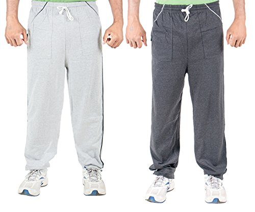 Funky Guys Men's Cotton Track Pant (Pack of 2) (TRACKPANT_C2_DGGY_42_Multi_Large)