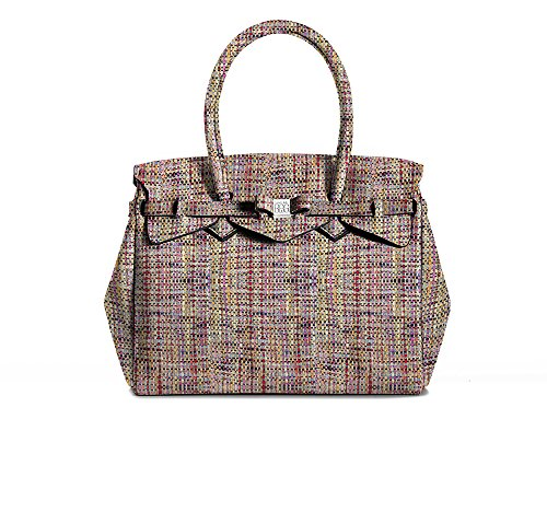 Save My Bag Sac à main femmeMulticoloreMulticolore (Love Words LWO), 26x23x13 cm (W x H x L) EU
