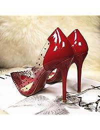 Yukun zapatos de tacón alto Transparent Rhinestone Pointed Shoes Women s  High Heel Stiletto Single Shoes Crystal 5840fcc3b0ff