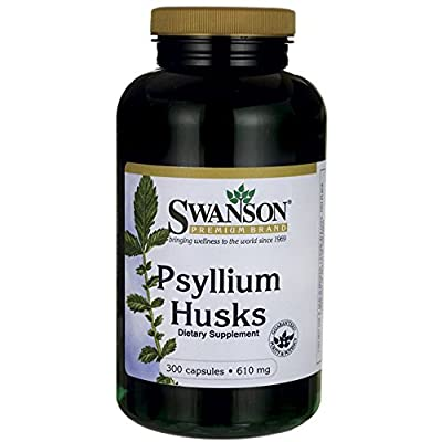 Swanson Psyllium Husks (610mg, 300 Capsules) by Swanson Health Products